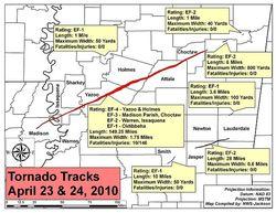 MS Tornado path